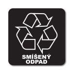 Samolepka 12x12 Smíšený odpad