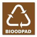 Samolepka 15x15 Bioodpad