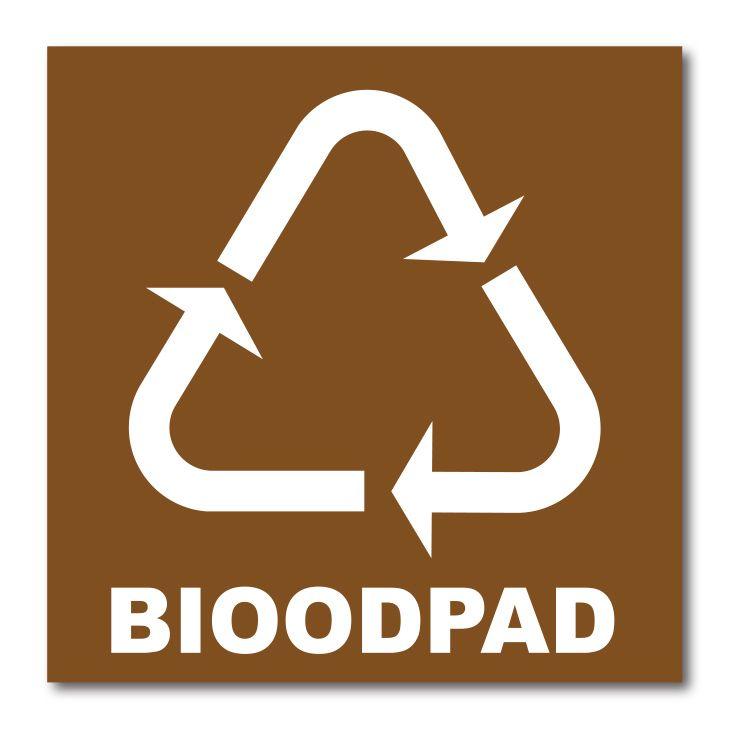 Barevná samolepka tříděný odpad 15x15 cm Bioodpad