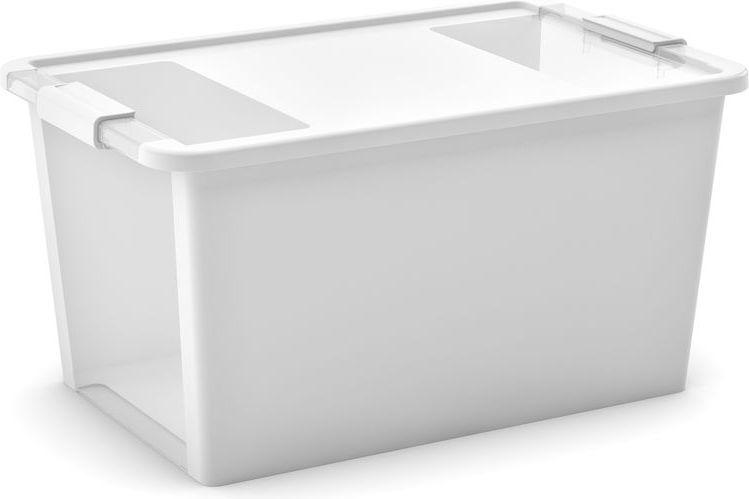 KIS Plastový úložný box s průhledy - Bi Box L - Bílý 40 L