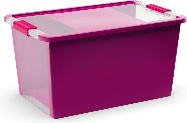 KIS Plastový úložný box s průhledy - Bi Box L - Fialový 40 L