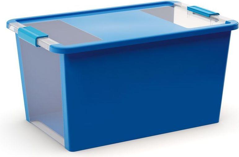 KIS Plastový úložný box s průhledy - Bi Box L - Modrý 40 L