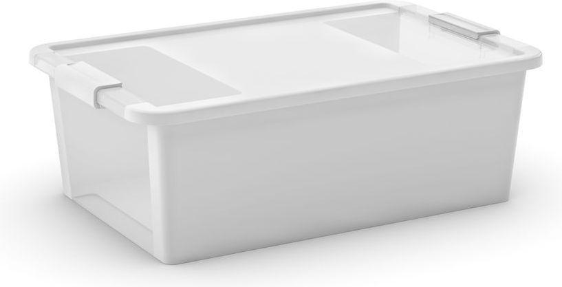 KIS Plastový úložný box s průhledy - Bi Box M - Bílý 26 L