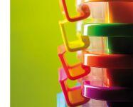KIS Plastový úložný box s průhledy - Bi Box M - Modrý 26 L