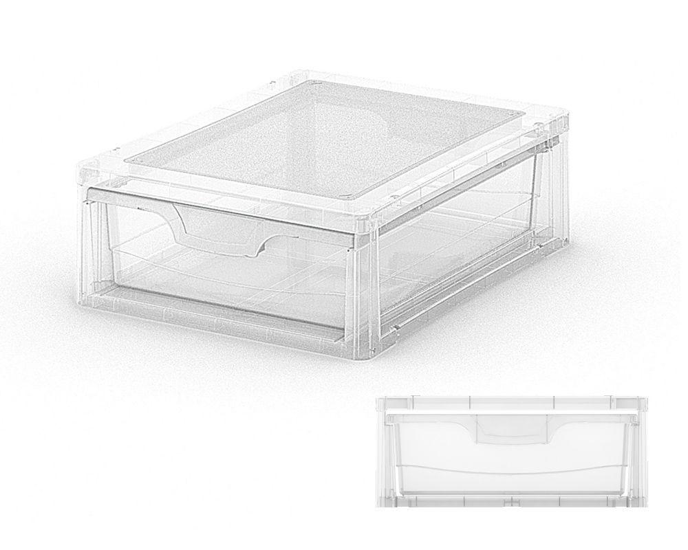 KIS Plastový úložný box - Spider Drawer 4 Průhledný, 7 L