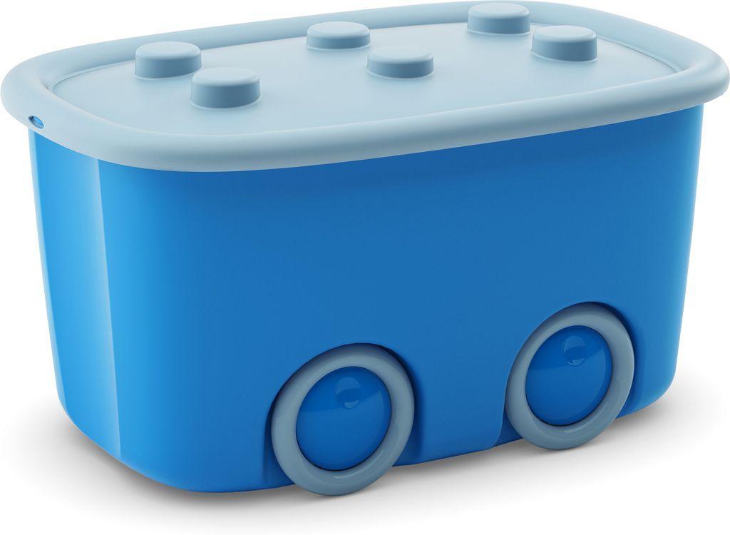 KIS úložný box na hračky - Funny box L Modrý, 46 L