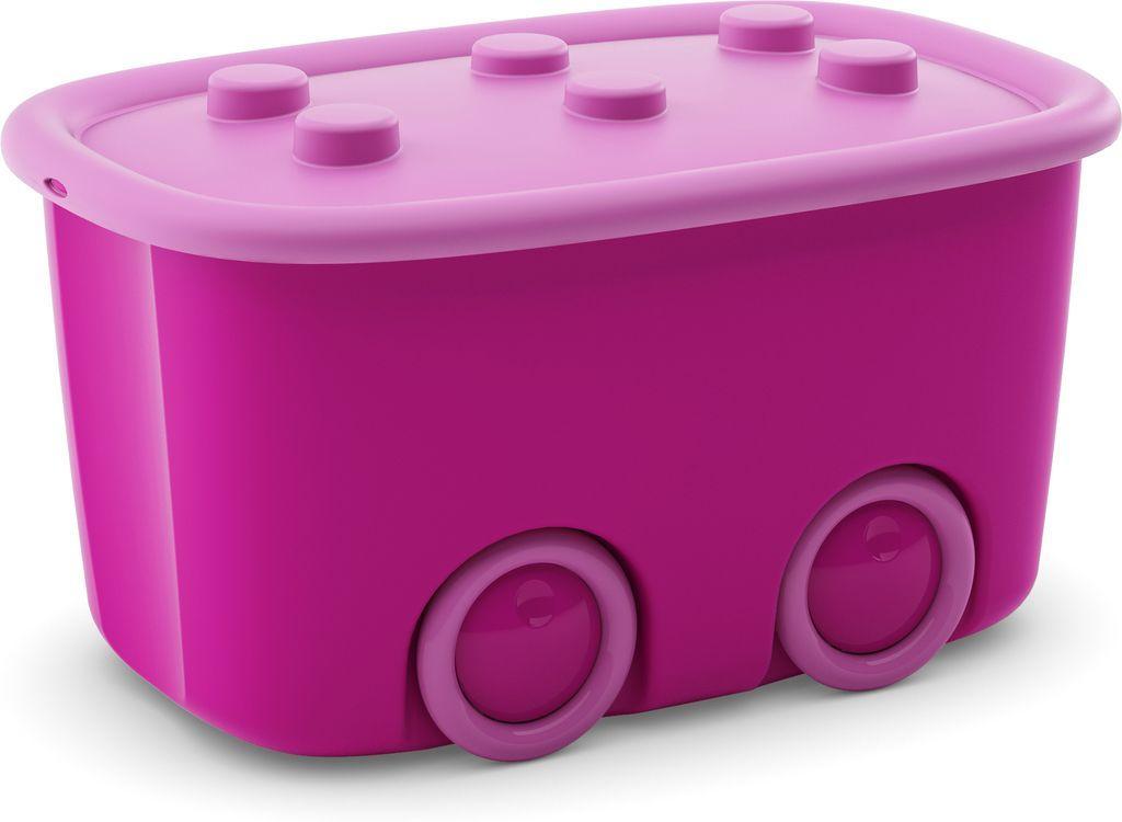 KIS úložný box na hračky - Funny box L světlé Fialový, 46 L