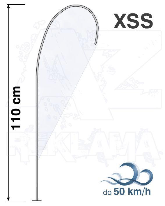 Muší křídlo tvar Kapka, výška 110cm - XXS samotná nosná konstrukce bez stojanu A-Z Reklama CZ