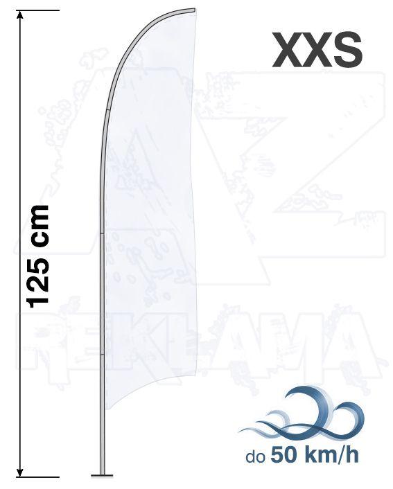 Muší křídlo tvar Konkava, výška 125cm - XXS samotná nosná konstrukce bez stojanu a vlajky A-Z Reklama CZ