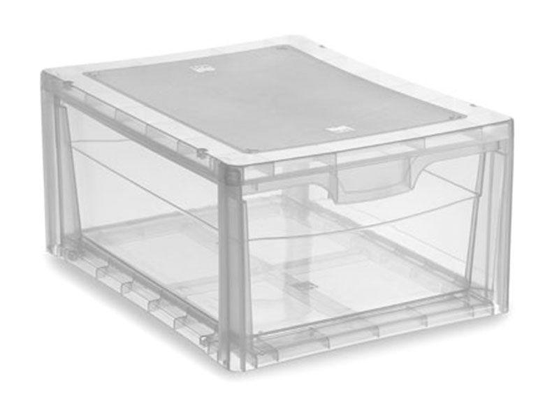 KIS Plastový úložný box - Spider Drawer 2 Průhledný, 13 L