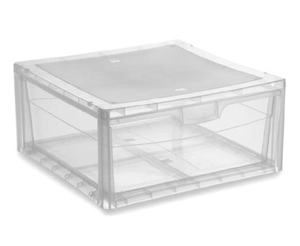 KIS Plastový úložný box - Spider Drawer 3 Průhledný, 17 L