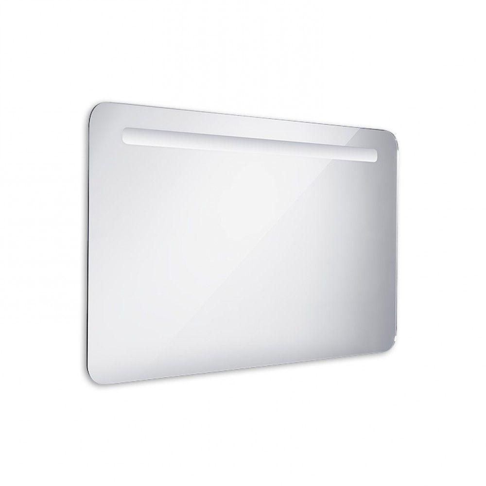 Koupelnové podsvícené LED zrcadlo 1000x600 - oblé hrany