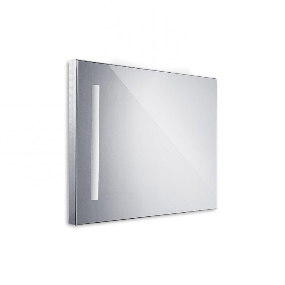 Koupelnové podsvícené LED zrcadlo 600x800 - ostré hrany