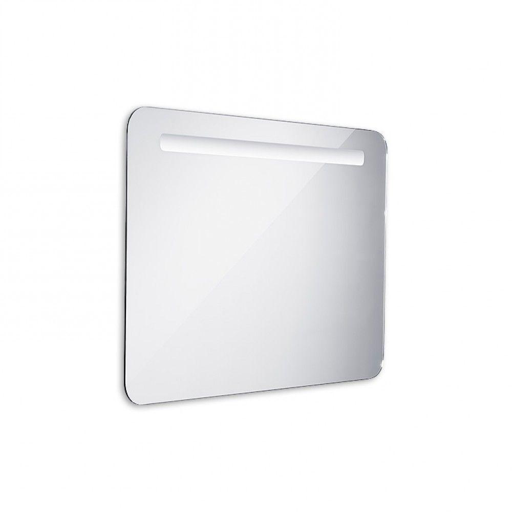 Koupelnové podsvícené LED zrcadlo 800x600 - oblé hrany