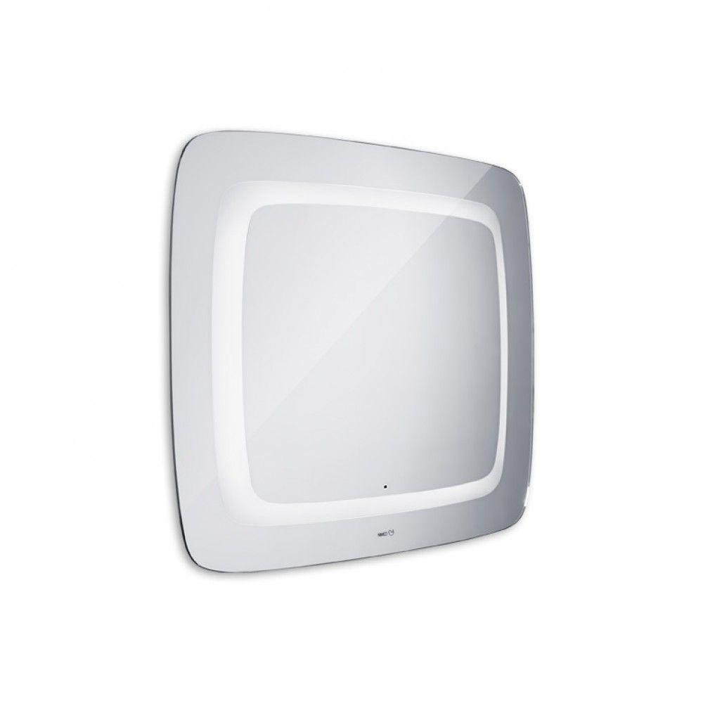 Koupelnové podsvícené LED zrcadlo se senzorem 650x800 - oblé hrany