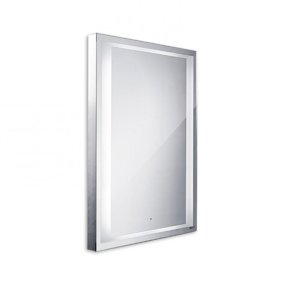 Koupelnové podsvícené LED zrcadlo se senzorem 800x600 - ostré hrany