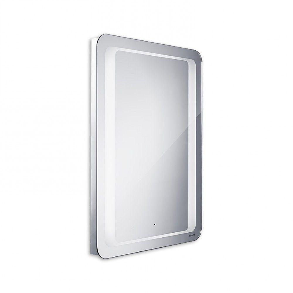 Koupelnové podsvícené LED zrcadlo se senzorem 800x600 - oblé hrany