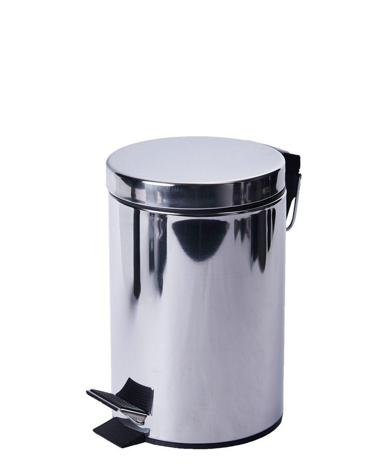 Kovový odpadkový koš 3 litrů s pedálem - Nerez lesk