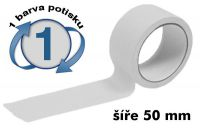 Bílá potištěná páska 50mm 1 barva