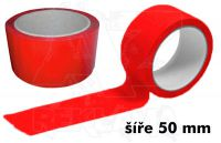 Červená páska 50mm bez potisku