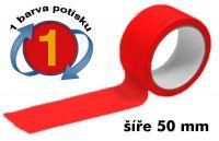 Červená potištěná páska 50 1 barva