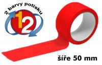 Červená potištěná páska 50 2 barvy