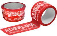 Červené Potištěné pásky