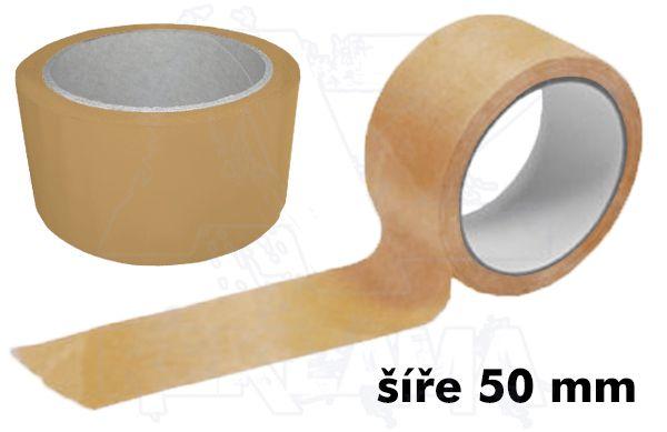 Čirá lepící páska šíře 50mm bez potisku