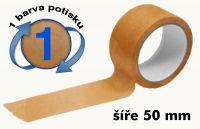 Čirá potištěná páska 50mm 1 barva