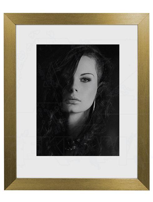 Hliníkový Foto rámeček 30 Zlatá lesklá A4