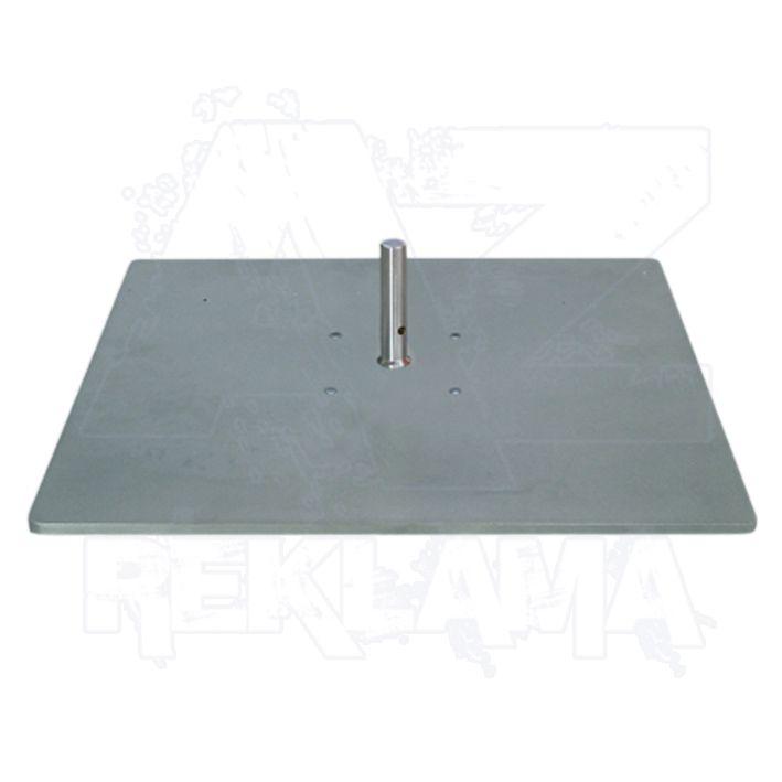 Ocelová deska Stojan 30x30cm bez rotátoru