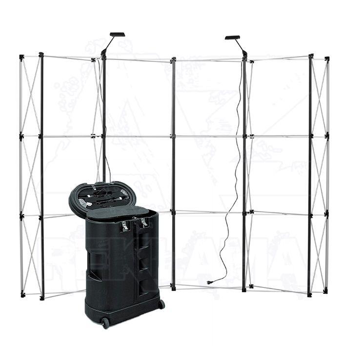 POP-UP Magnetická stěna 4x3 - konstrukce se stolkem