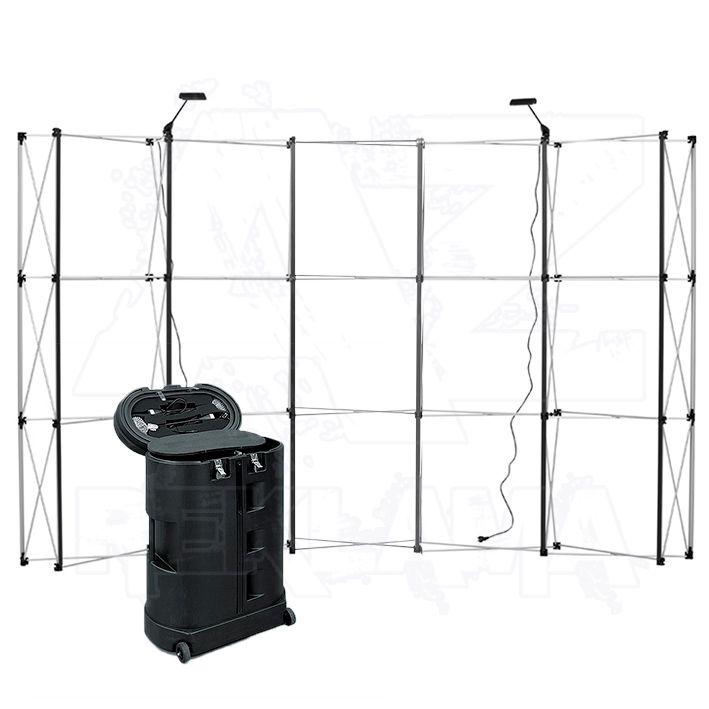 POP-UP Magnetická stěna 5x3 - konstrukce se stolkem