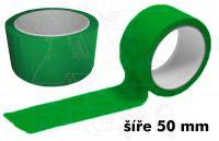 Zelená páska 50mm bez potisku