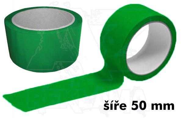 Zelená lepící páska šíře 50mm bez potisku