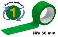 Zelená potištěná páska 50 1 barva