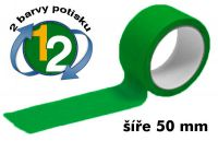 Zelená potištěná páska 50 2 barvy
