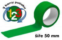 Zelená potištěná páska 50 3 barvy