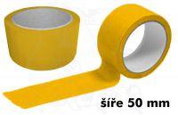Žlutá páska 50mm bez potisku