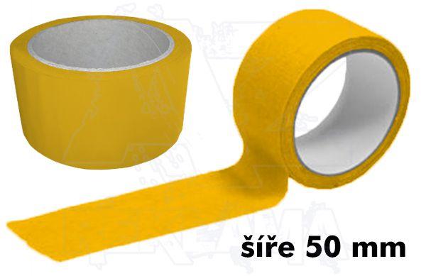 Žlutá lepící páska šíře 50mm bez potisku