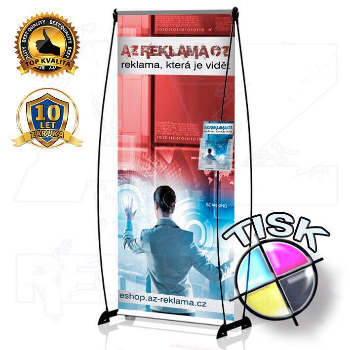 Banner Design s kapsou 100x200 s tiskem A-Z Reklama CZ