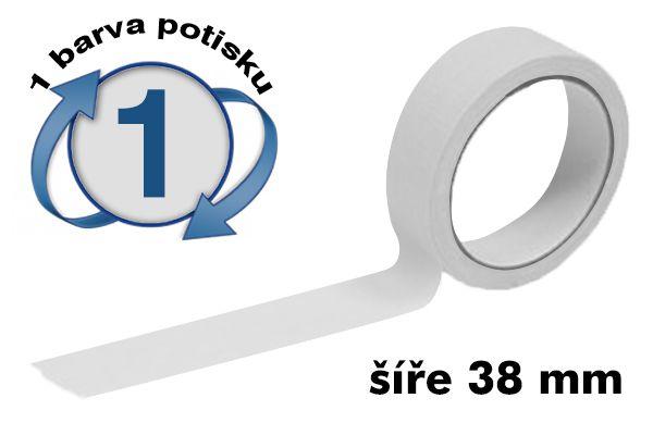 Bílá potištěná lepící páska 38mm 1 barva tisku A-Z Reklama CZ