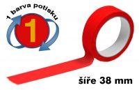 Červená potištěná páska 38 1 barva