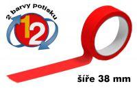 Červená potištěná páska 38 2 barvy