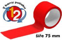 Červená potištěná páska 75 2 barvy