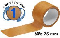 Čirá potištěná páska 75mm 1 barva