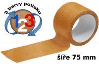 Čirá potištěná páska 75mm 3 barvy