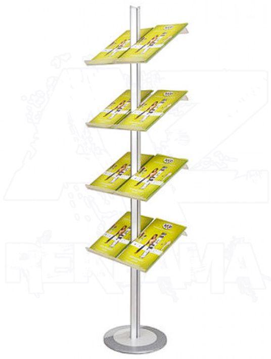 Hliníkový stojan na letáky s akrylovými kapsami