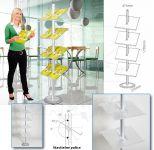 Hliníkový stojan na letáky s akrylovými kapsami A-Z Reklama CZ