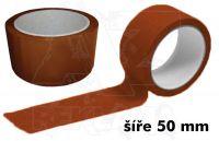 Hnědá páska 50mm bez potisku